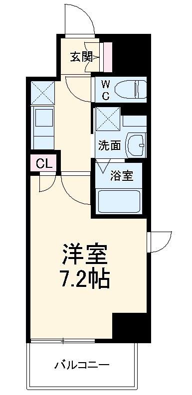 エスカーサ京都四条梅津・203号室の間取り