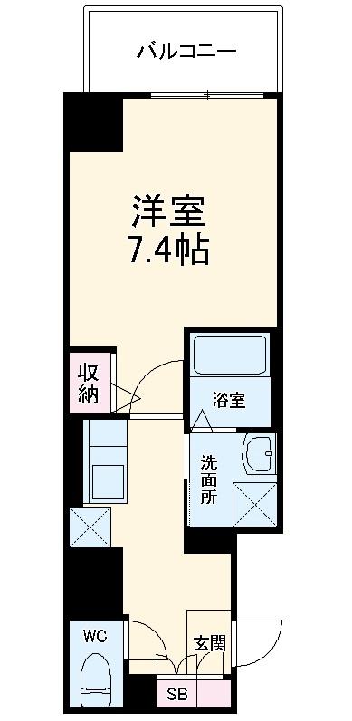 エスカーサ京都四条梅津 401号室の間取り
