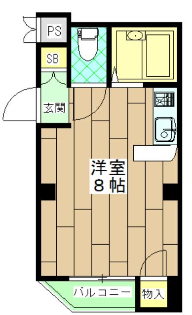 ラメールⅢ・205号室の間取り