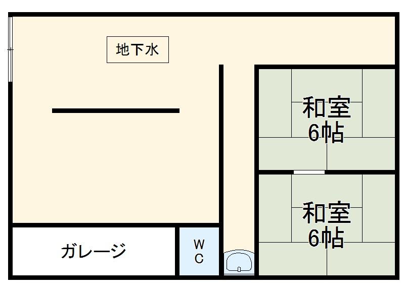 西京極店舗付き住宅の間取り