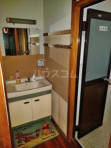 西京極店舗付き住宅の洗面所