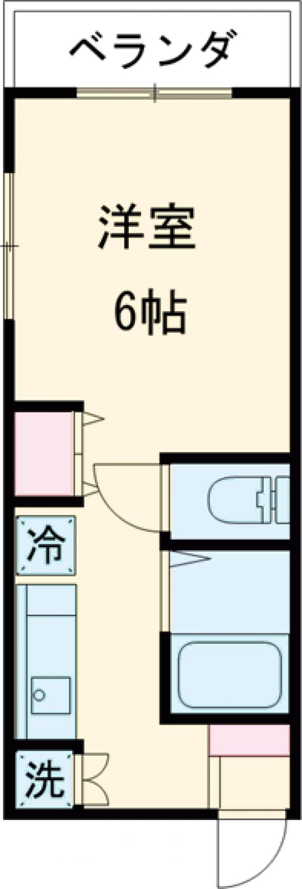 メゾンライオネス加藤・202号室の間取り