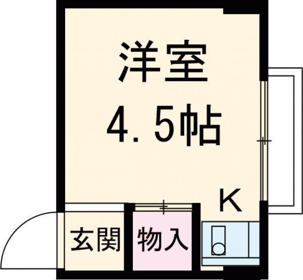 長谷川ハイツ 312号室の間取り