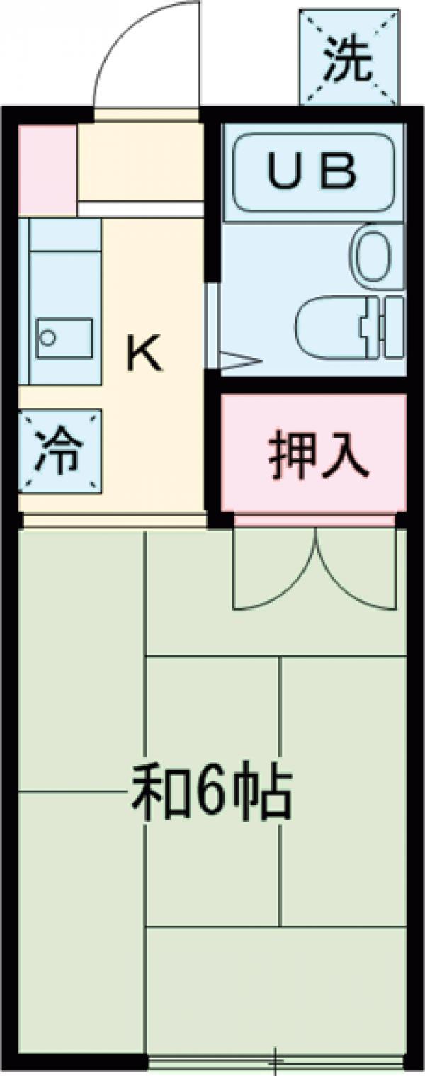 田所コーポB・201号室の間取り