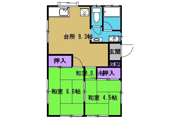 メゾンソレイユⅡ・1-B号室の間取り