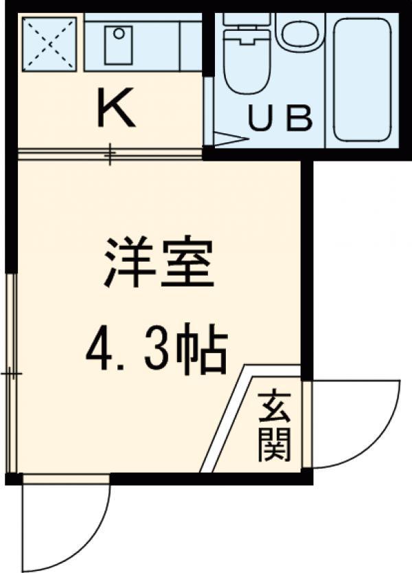 シャンテ京島 202号室の間取り