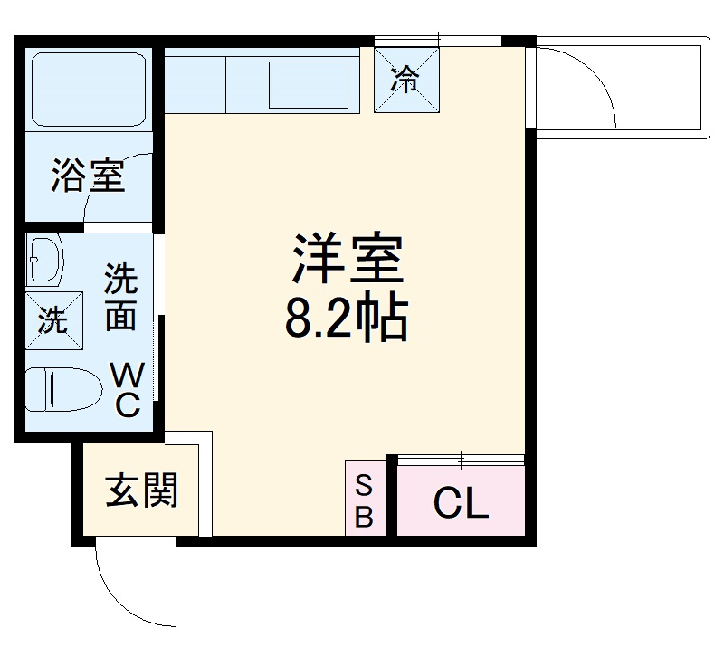 BASE IN KYOTO花園・302号室の間取り
