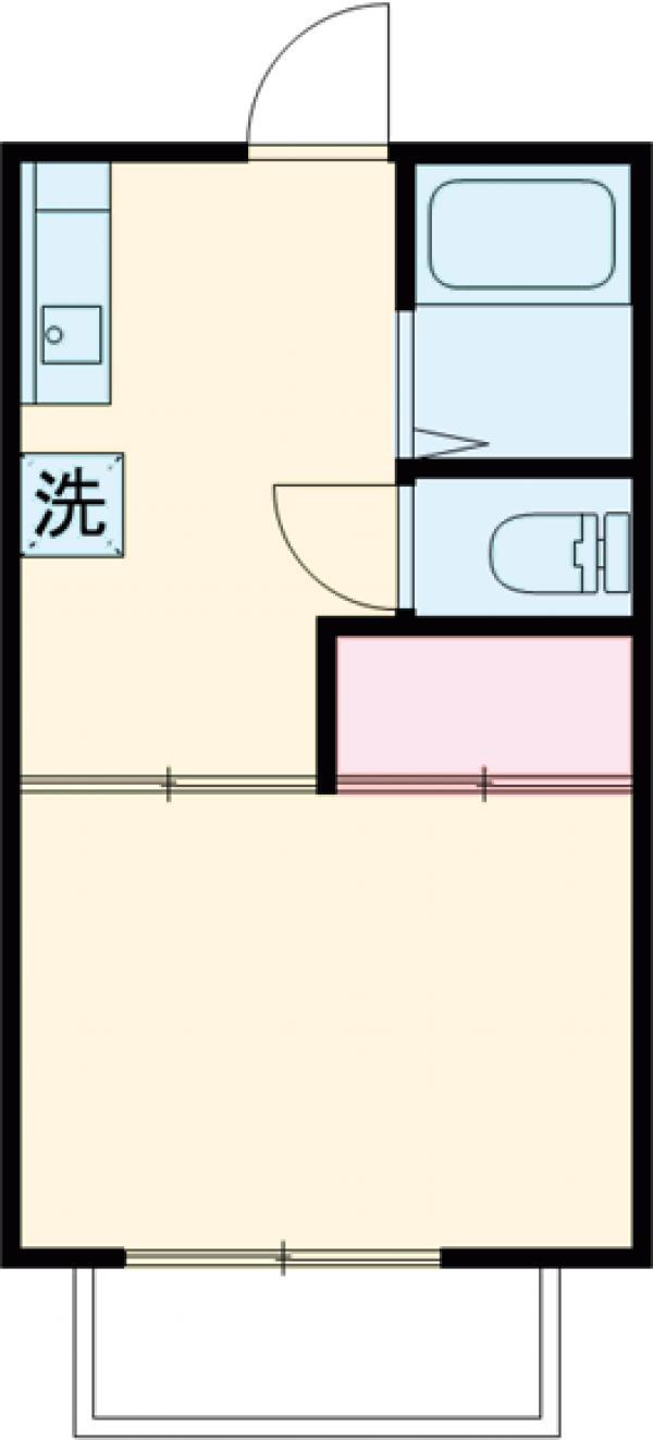 笠原アパート 201号室の間取り