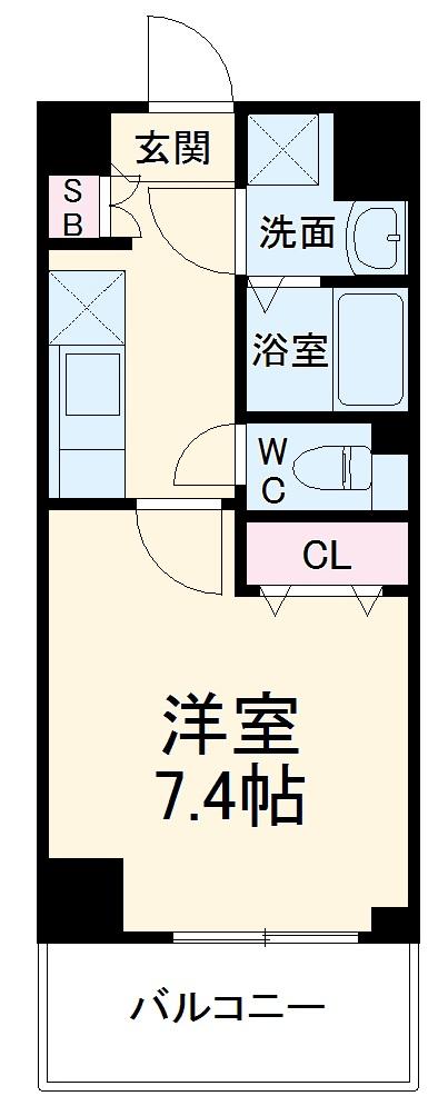 ベラジオ京都西大路ウエスト 602号室の間取り