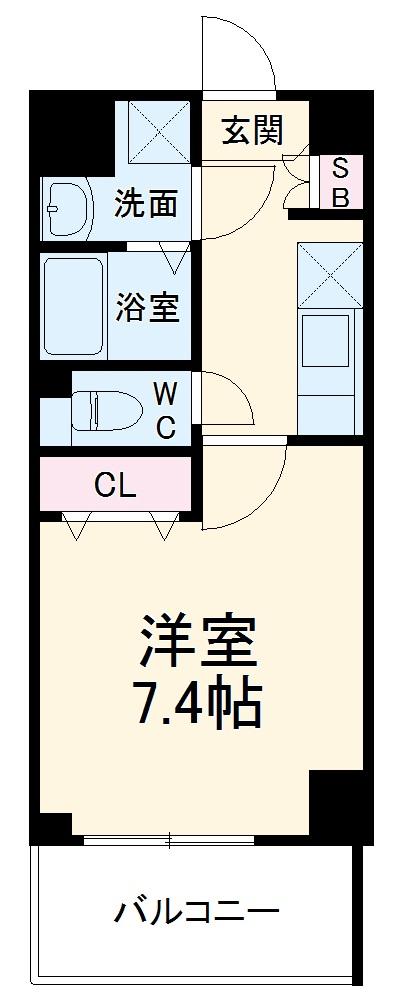ベラジオ京都西大路ウエスト 603号室の間取り