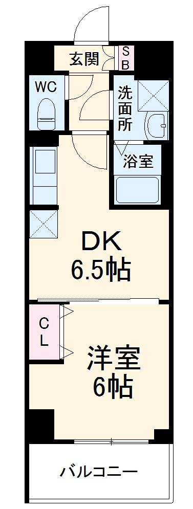 ベラジオ京都西大路ウエスト 204号室の間取り