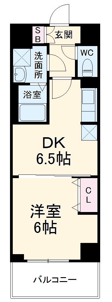 ベラジオ京都西大路ウエスト 505号室の間取り