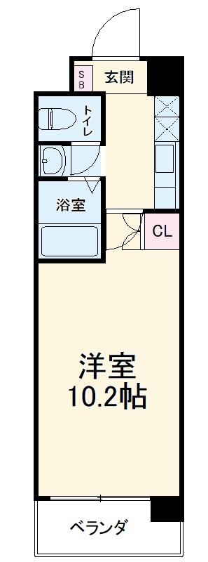 CASA SHIKO 308号室の間取り