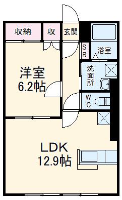 コンフォート征矢町・00101号室の間取り