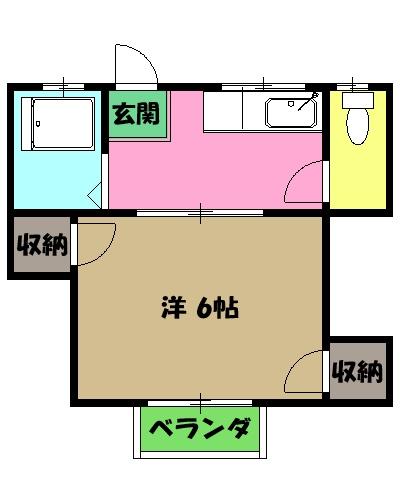 コーポ富士苑 202号室の間取り
