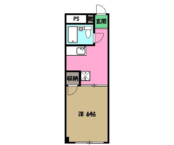 サンハイツ子安・303号室の間取り
