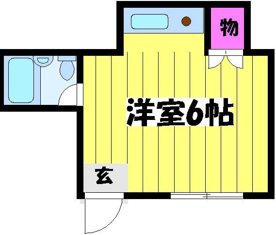 ボナンザ南山田・113号室の間取り