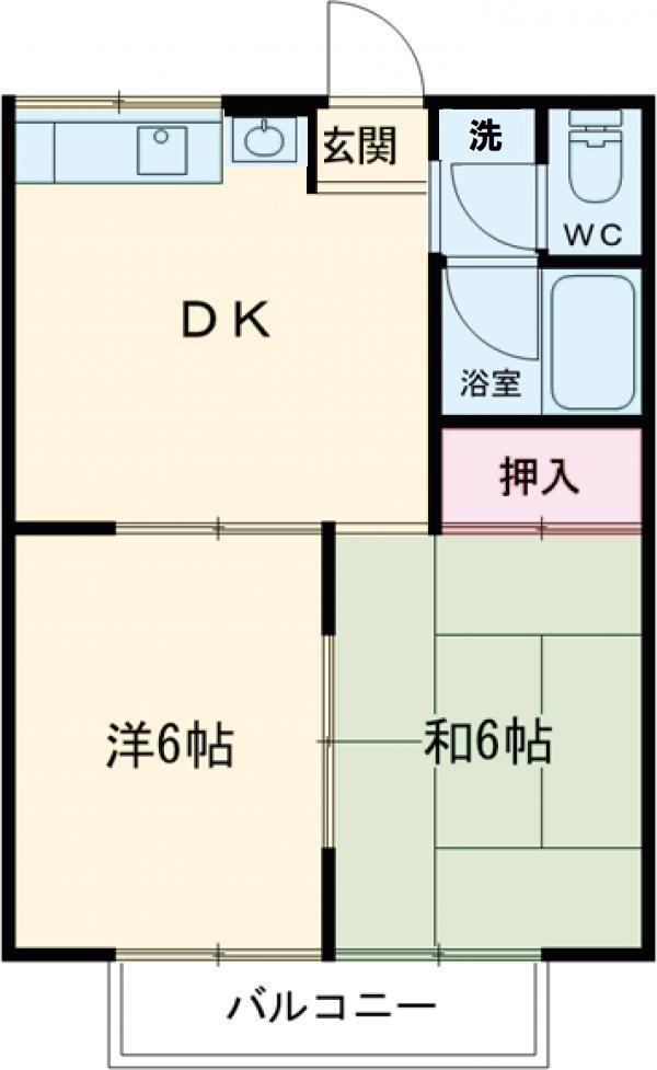 平岡田口ハイツ・201号室の間取り