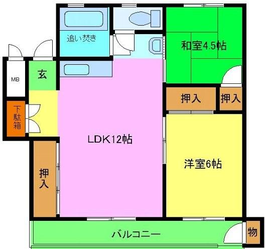 和泉グリーンコーポ・3A号室の間取り