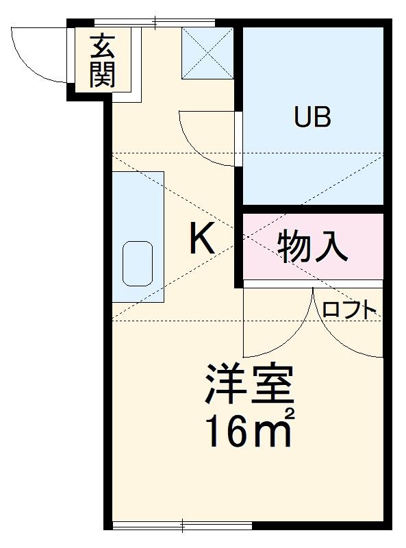 メゾンスカイ堀江・203号室の間取り