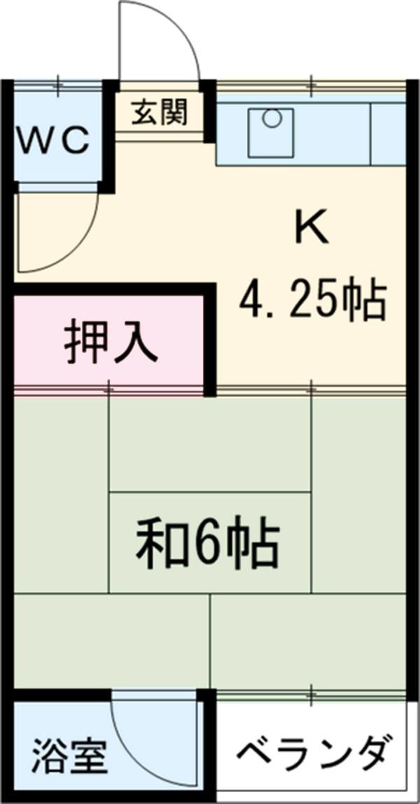 第2コーポラス三田・206号室の間取り