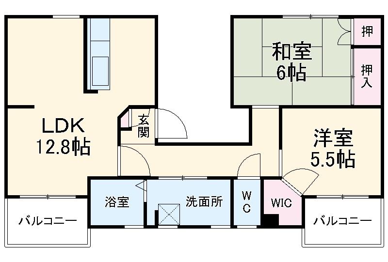 ファティリティ稲沢 2号棟・231号室の間取り