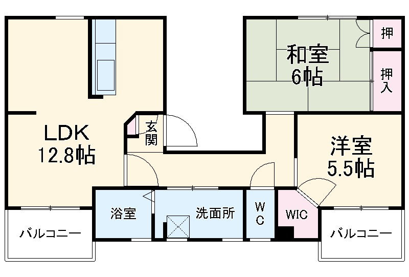 ファティリティ稲沢 2号棟・242号室の間取り