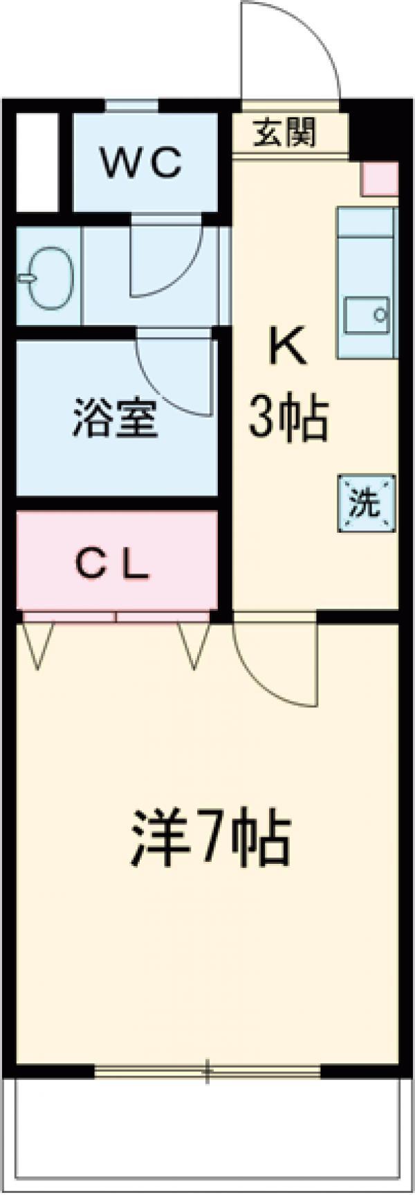丹木田口ビル・105号室の間取り