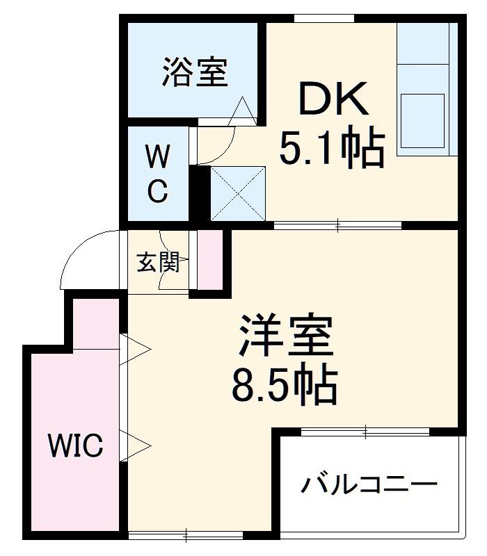 ファティリティ稲沢 3号棟・335号室の間取り