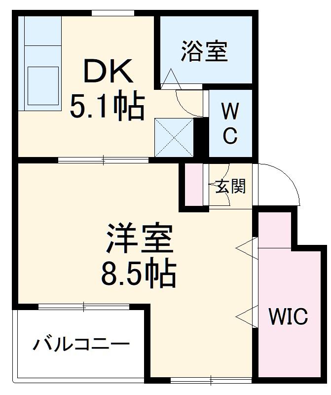 ファティリティ稲沢 3号棟・346号室の間取り