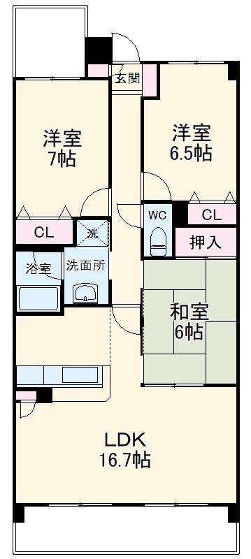 SUNSHINE KONOMIYA・302号室の間取り