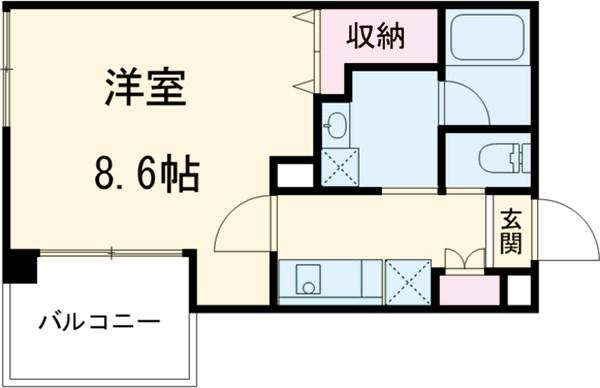 レジス立川高松町・601号室の間取り