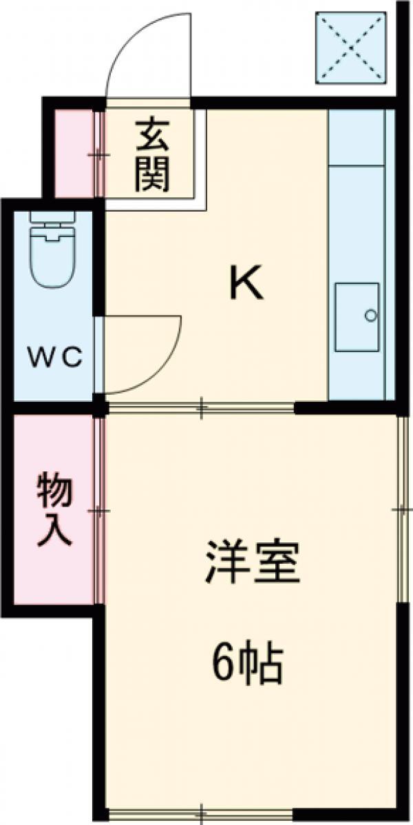 楓荘・A-2号室の間取り