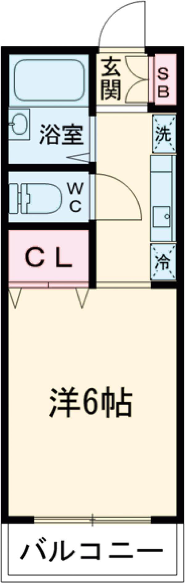 トゥインクルコート大町5番館・205号室の間取り