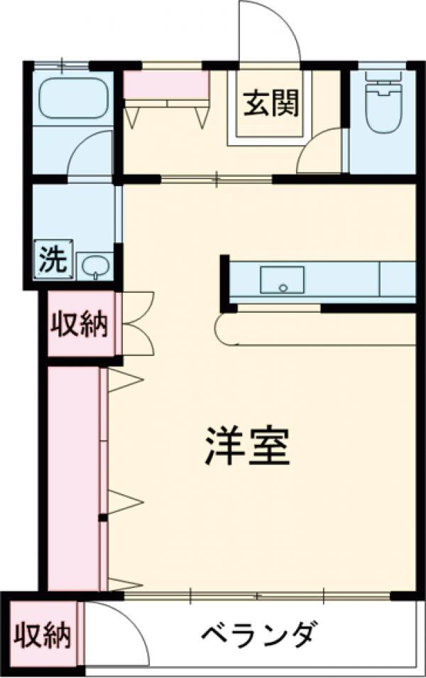 ハシモトマンション・301号室の間取り