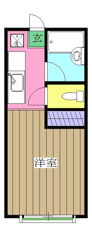 パシフィックオーシャンパート1・110号室の間取り
