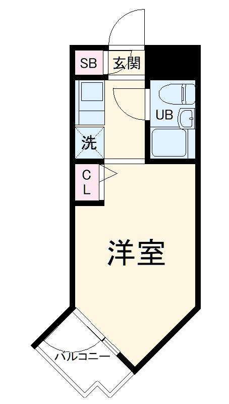 DOM二子新地 101号室の間取り