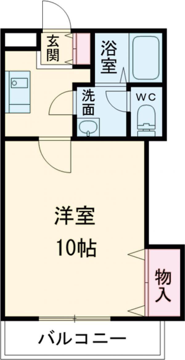 ソレイユ多摩川・202号室の間取り