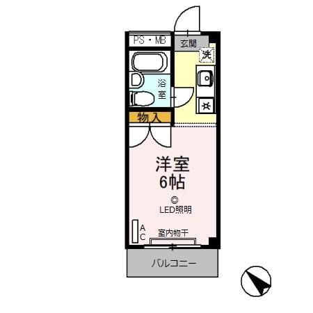 ハピラス武蔵藤沢・00302号室の間取り