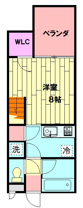 セザンヌ小坂井 202号室の間取り