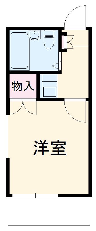 中岩田レジデンス・102号室の間取り