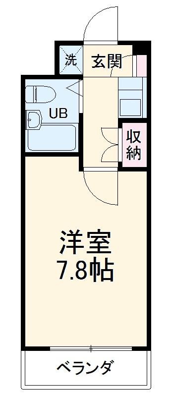 ポプラ豊橋マンション 205号室の間取り