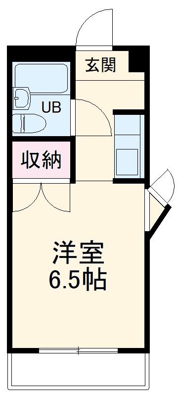 ハイシティ南栄 505号室の間取り