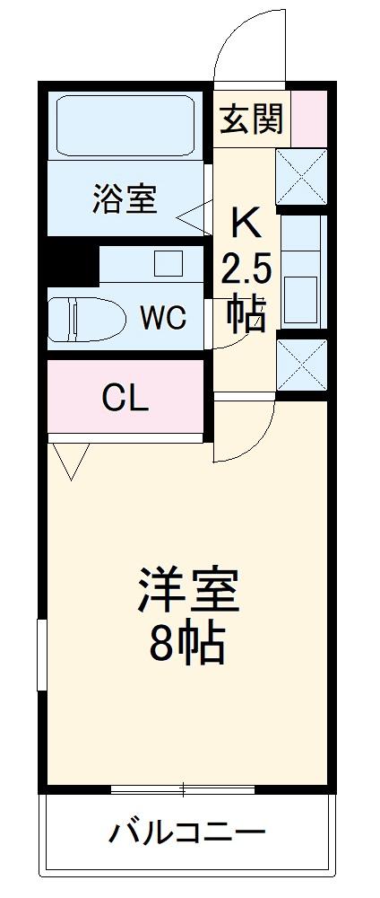 レトア大崎B・206号室の間取り
