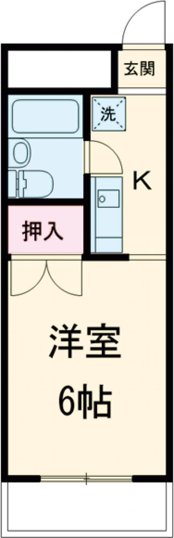 コスモ中浜 701号室の間取り