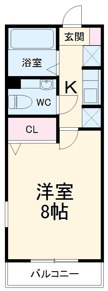 レトア大崎B・202号室の間取り