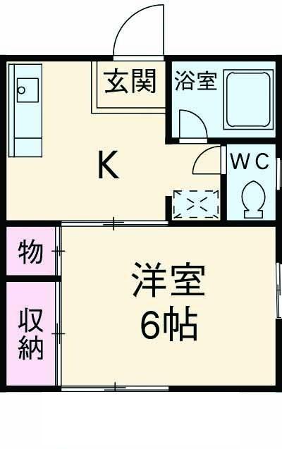 コーポヤマダ・101号室の間取り