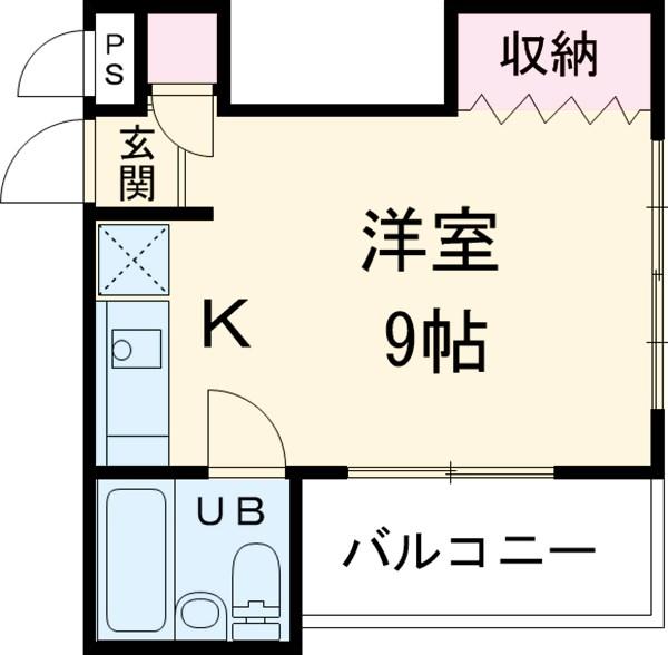 TKハイム錦町・101号室の間取り