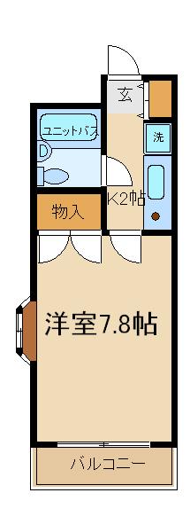 ファミール本田・208号室の間取り