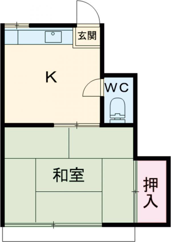 遠藤荘・205号室の間取り